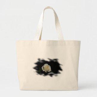 White Rose Burned Edges zazzle_bag
