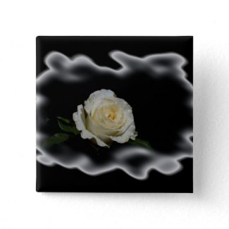 White Rose Burned Edges zazzle_button