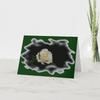 White Rose Burned Edges zazzle_card