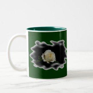 White Rose Burned Edges zazzle_mug