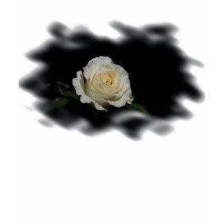White Rose Burned Edges zazzle_shirt