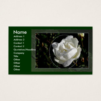 White Rose Business Card