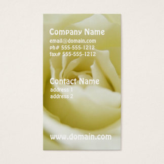 White Rose Business Cards