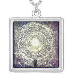 White Rose by Gustave Doré Pendant Necklace