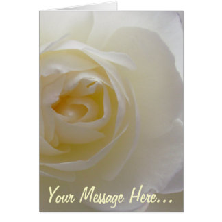 White Rose Card Rose  Personalized Flower Card