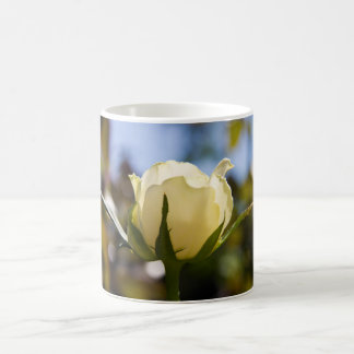 White Rose Classic White Coffee Mug