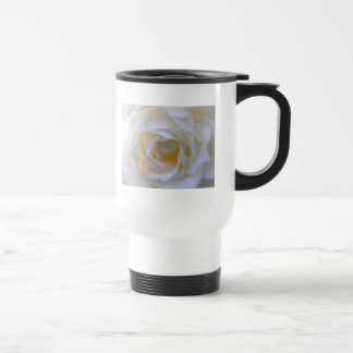 white rose close up commuter travel mug