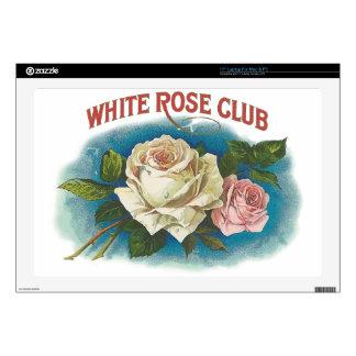 White Rose Club Laptop Skin