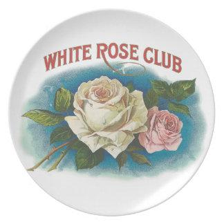 White Rose Club Plate