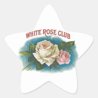 White Rose Club Star Sticker