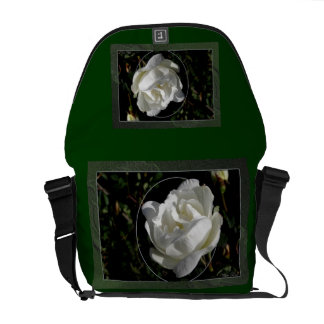 White Rose Courier Bag