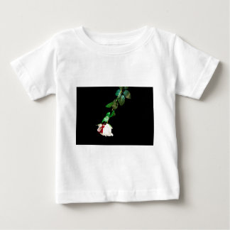 White rose covered with blood baby T-Shirt
