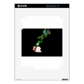 White rose covered with blood iPad 2 decals