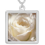 White Rose Custom Necklace
