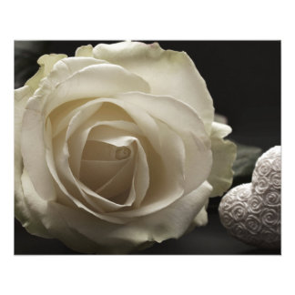 white rose custom personalize Anniversaries Flyer