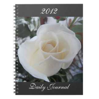 White Rose-Daily Journal-Customize Year Spiral Note Book