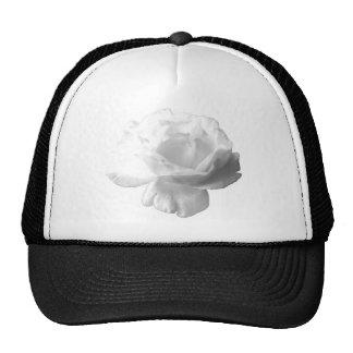 White Rose Design Trucker Hat