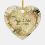 White Rose Elegance - Customize Ornaments