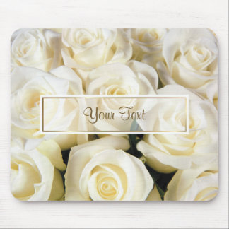 White Rose Elegance Template Mouse Pad