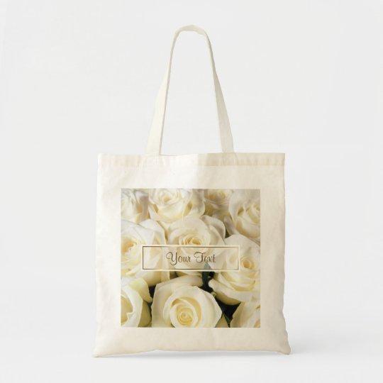 White Rose Elegance Template Tote Bag
