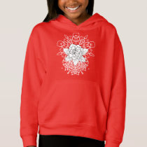 White Rose Fancy Mandalas Cool Graphic Hoodie