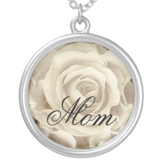 White Rose, Floral, beautiful Necklace