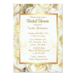 White Rose Floral Bridal Shower Announcement