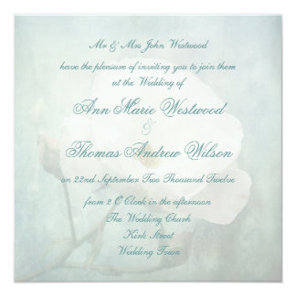 White Rose Floral Wedding Invitations