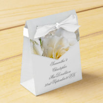 White rose flower floral romantic wedding favor box