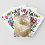 White Rose Flower Playing Cards