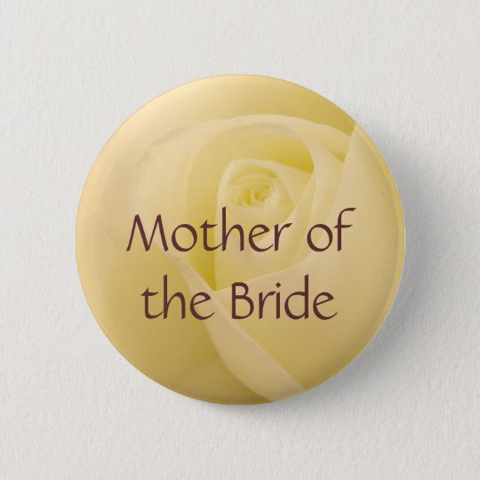 White rose for Mother of the Bride Button