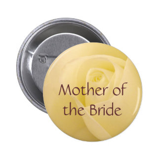 White rose for Mother of the Bride Pinback Button