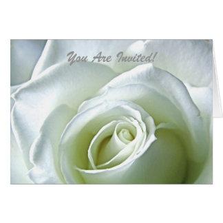 White Rose Formal Invitation