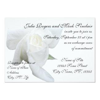 White Rose Formal Wedding Card