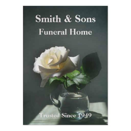 White Rose Funeral Home Business Card Zazzle