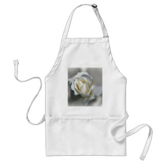 White Rose Garden Flower Beautiful Adult Apron