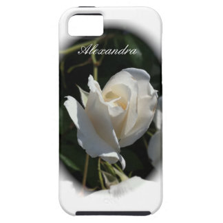 White Rose Garden with Personalized Name iPhone SE/5/5s Case