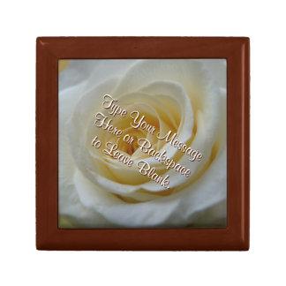 White Rose Gift Box Personalize Rose Jewelry Box
