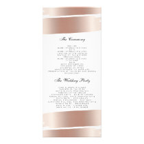 White & Rose Gold Brush Stroke Wedding Program