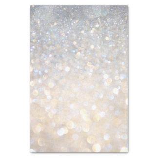 White Rose Gold Glitter Gray Modern Trendy Stylish Tissue Paper