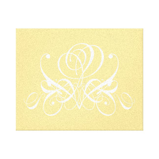 White Rose in Sunshine Yellow Canvas Print