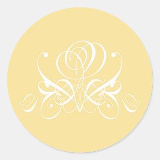 White Rose in Sunshine Yellow Classic Round Sticker