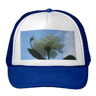 White Rose In The Blue Sky Trucker Hat