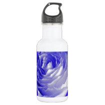 White Rose Indigo Purple by Sharles Stainless Steel Water Bottle