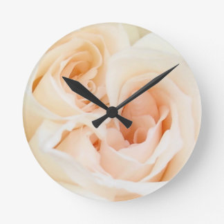 White Rose: Innocent and Pure Love Wall Clock
