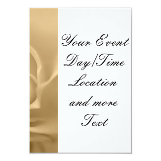 white rose 3.5x5 paper invitation card