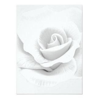 White Rose Personalized Invitation