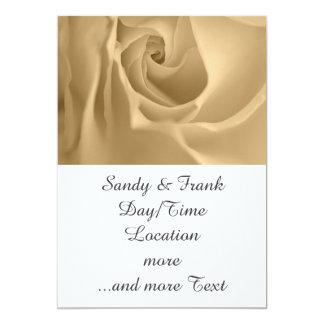 white rose 5x7 paper invitation card
