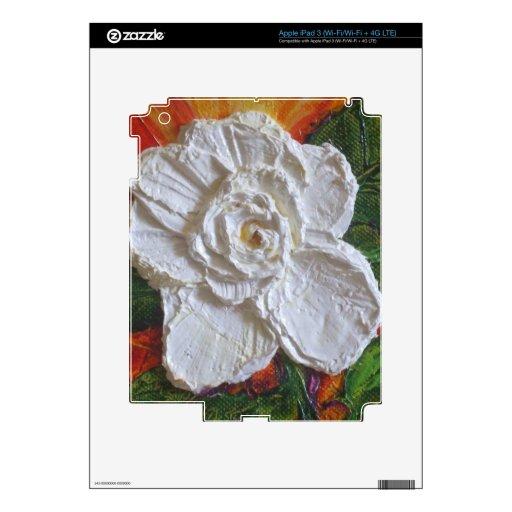 White Rose iPad Skin