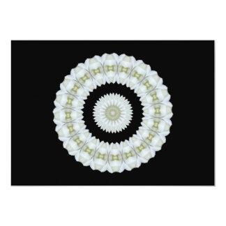 White rose kaleidoscope card